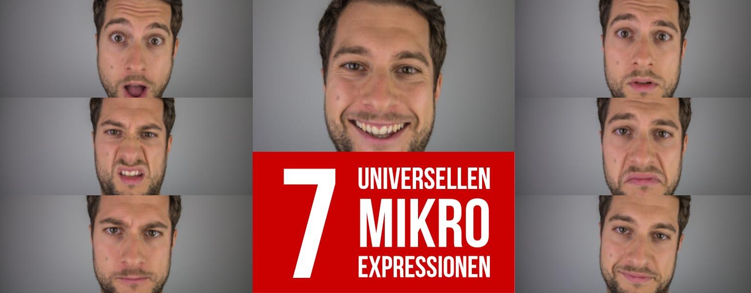 Menschen lesen – Die 7 universellen Mikroexpressionen